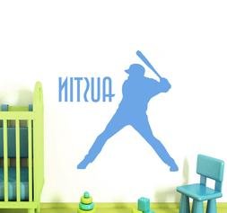Personalized Name Wall Decals Baseball Sport Decal Boy Room