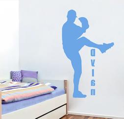Personalized Name Wall Decals Sport Decal Baseball Boys Room