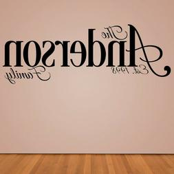 Personalized Wall Decal - Custom Family Last Name