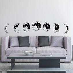 Phases of the Moon Vinyl Wall Decal - best for darker vinyl