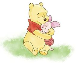 11 Inch Piglet Hugs Winnie The Pooh Bear Disney Removable Pe