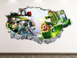 Plants Vs Zombies Wall Decal Art 3D Smashed Kids Game Nurser