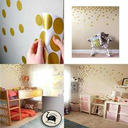 posh dots metallic gold circle