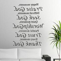 Praise God Bible Verse Vinyl Art Wall Stickers Decals Script