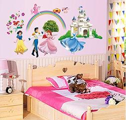 "ufengke® ""Princess Castle"" Princess and Prince Wall Decals,"