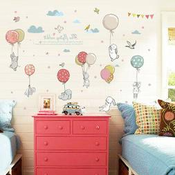 Rabbit Wall Sticker Decal For Nursery Kids Baby Girl Room Ba