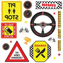 Racing Racecar 18 WaLL DeCaLS Race Cars Kids Room Decor Stic