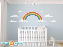 Rainbow Fabric Wall Decals - Jumbo Sized by Sunny Decals