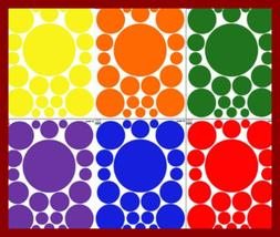 RAINBOW Polka Dot Wall Decals For Kids Room 126 Dots PARTY S