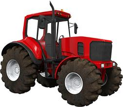 "12"" Red Farm Tractor #1 Wall Sticker Decal Graphic Art Child"