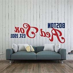 Red Sox Wall Decal - Boston Baseball Decorations - Sports Te