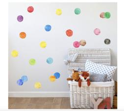 "Amaonm Removable 27 Pcs 2.75"" 7cm Vinyl Colorful Multi Color"