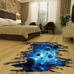 Removable 3D Wall Stickers Space Galaxy Stars Planets Univer