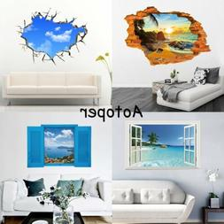 Removable 3D Wall Stickers Vinyl Decals Art Mural Home Livin