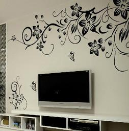 Removable Butterfly Flower DIY Vinyl Decal Art Mural Home De