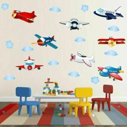 Removable Cartoon Airplane  Wall Sticker Vinyl Wall Decals K