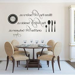 Removable Decal Vinyl Quotes Wall Stickers Decal Mural Famil