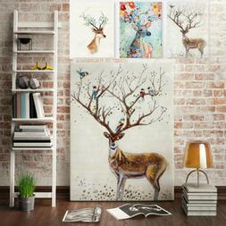 Removable Deer Forest Wall Stickers Decals Art Mural Vinyl H
