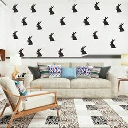 Removable Easter Bunnies Wall Decals Peel Sticks Reusable Ho