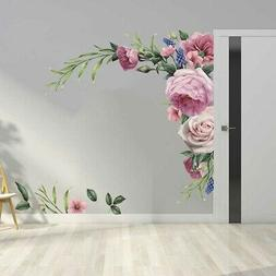 Removable Floral Wall Stickers Waterproof Vinyl Art Flower P