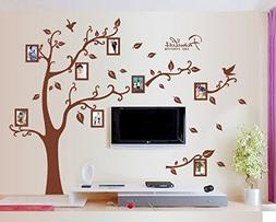 Amaonm® Removable Giant Brown Family Photo Frame Tree Wall