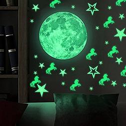 38pcs Removable Glow In the Dark Stars 26pcs & Moon Wall Sti