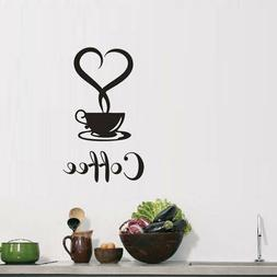 removable kitchen decor coffee cup decals