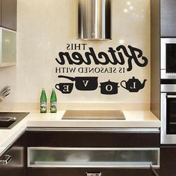 Removable Kitchen Wall Sticker Vinyl Decal for Bedroom Home