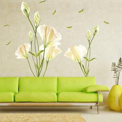 Removable Large Lily Flower Wall Stickers Decal Art Mural Ho