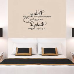Removable Mural  Art Family & Heart Wall Stickers WAKE UP En