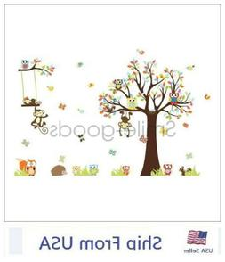 removable tree owl wall decals kids bedroom