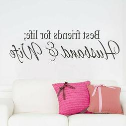 Removable Vinyl Decal Art Mural Home Living Room Decor Quote
