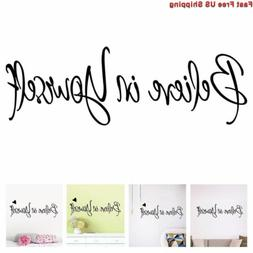 Amaonm Removable Vinyl Quotes Words Believe in Yourself Home
