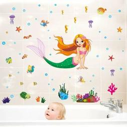 Removable Vinyl Wall Decal Little Mermaid Girl Sticker Home