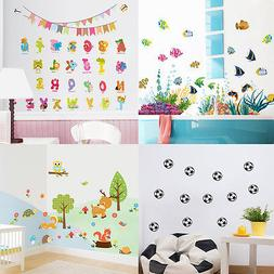 Removable Wall Decals Animals Pattern Sticker Decor For Kids