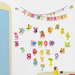 Removable Wall Decals English Letters Sticker Decor For Kids