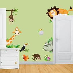 removable wall stickers baby nursery room jungle