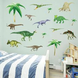 Removable Wall Stickers Kids Boys Dinosaurs Bedroom Home Art