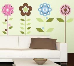 ROOMMATES  RMK1278 GROWING FLOWERS PEEL & STICK  WALL DECALS