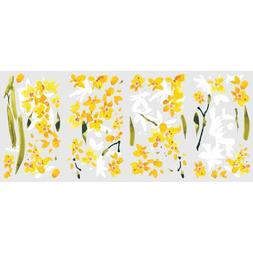 RoomMates Yellow Flower Arrangement Peel And Stick Wall Deca