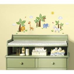 RoomMates RMK2635SCS Jungle Friends Peel and Stick Wall Deca