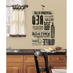RoomMates RMK2649SCS Wine Lovers Peel and Stick Wall Decals