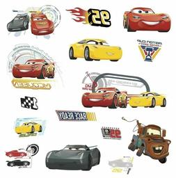 Room Mates Disney Cars 3 Removable Wall Decals 15 total Peal