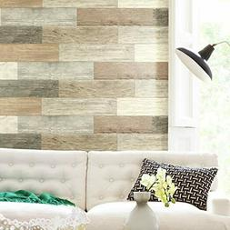 RoomMates  Barn Wood Plank Peel And Stick Giant Wall Decals,