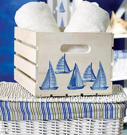 WALLIES SAILBOATS blue wall stickers 25 decals nautical deco