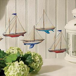 WALLIES SAILBOATS wall stickers 12 decals nautical room deco
