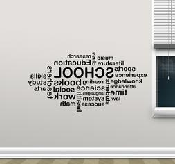 School Wall Decal Words Cloud Art Education Quote Vinyl Stic