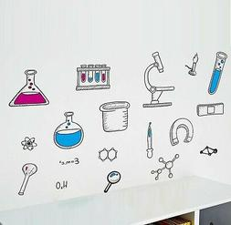 BIBITIME Science Laboratory Wall Decals Vinyl Chemical Eleme