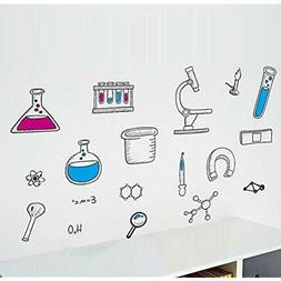 BIBITIME Science Stickers Laboratory Wall Decals Vinyl Chemi