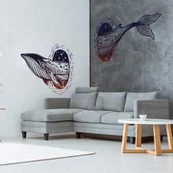 Sea Whale Fish 3D DIY Wall Stickers Removable Decoration Dec